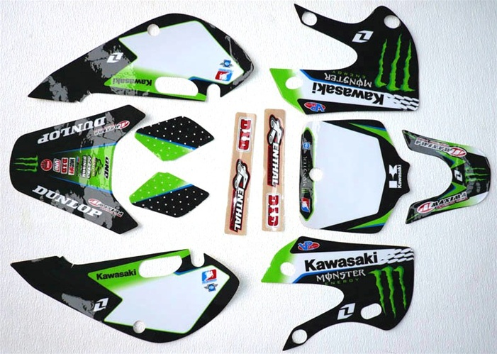 Kawasaki KLX 110 Graphic Kit Monster Energy KX65 DRZ