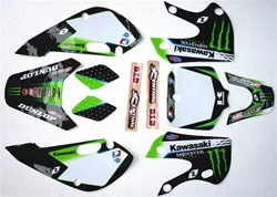klx 110 02-09 Monster Energy Graphics only 2011 Kit
