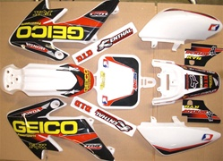 One Industries Gieco HOnda Crf 50 04-12 Graphics kit