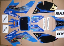 Crf 50 Yamaha Troy Blue Graphics Only 04-12