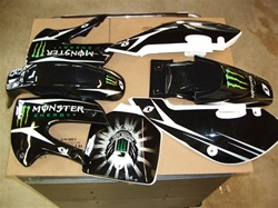Klx 110 Monster Energy Blk09 Grahics and Plastics