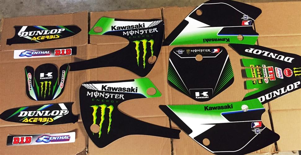 Monster Energy Kawasaki Kx85 Graphics Kit